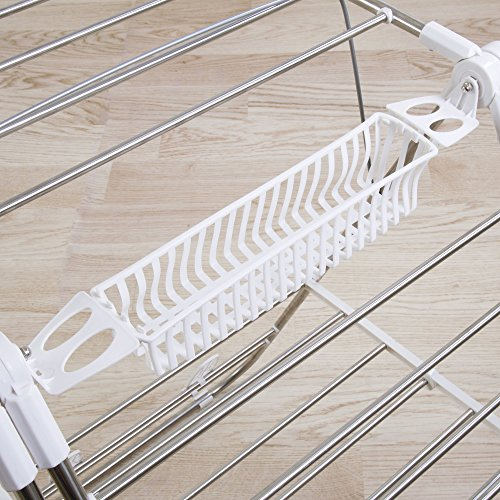 Heavy Duty Laundry Drying Rack- Stainless Steel Clothing Shelf for Indoor and Outdoor Use Best Used for Shirts Pants Towels Shoes by Everyday Home by Everyday Home (Image #3)