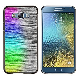 Queen Pattern - FOR Samsung Galaxy E7 E7000 - cool rainbow art brushed pattern - Cubierta del caso de impacto con el patr???¡¯???€????€?????