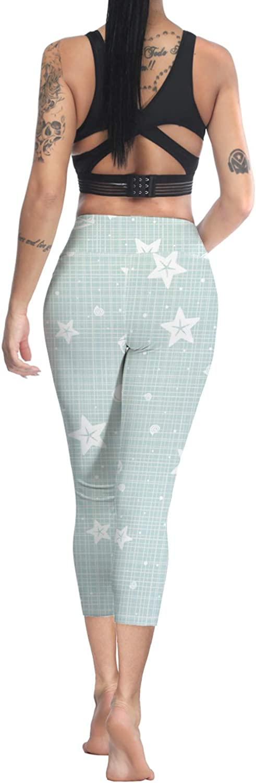 Printed Leggings for Women Easter Egg Rabbit 3//4 High Waist Yoga Pants Sport Gym Leggings Workout