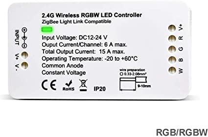 ZigBee RGBW LED Strip Light Controller for Echo Plus Philips Hue Google Home