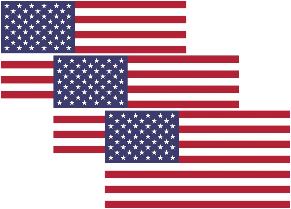 A&B Traders American Flag Sticker - American Flag Stickers for Trucks US Flag Decal for Cars/Truck/Boats/MacBook/Laptops Car Window Vinyl Decal US Flag Decals (3Pack) Flag Bumper Stickers