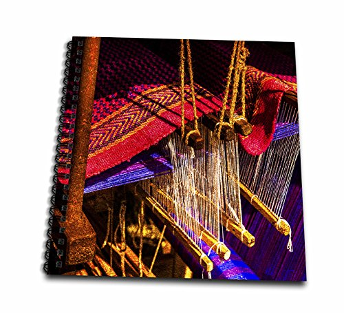 3dRose Alexis Photography - Objects - Golden age technologies - Hand knitting loom. Stylized photo - Drawing Book 8 x 8 inch (db_270871_1)