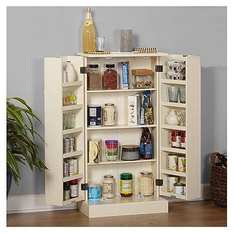 Amazon.com: Lapha\' Tall Pantry Larder Cabinet Kitchen Wooden ...