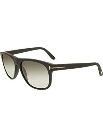 8f2405dc7d196 Tom Ford Mens Oliver Sunglasses (FT0236) Black Matte Grey Acetate -  Polarized -