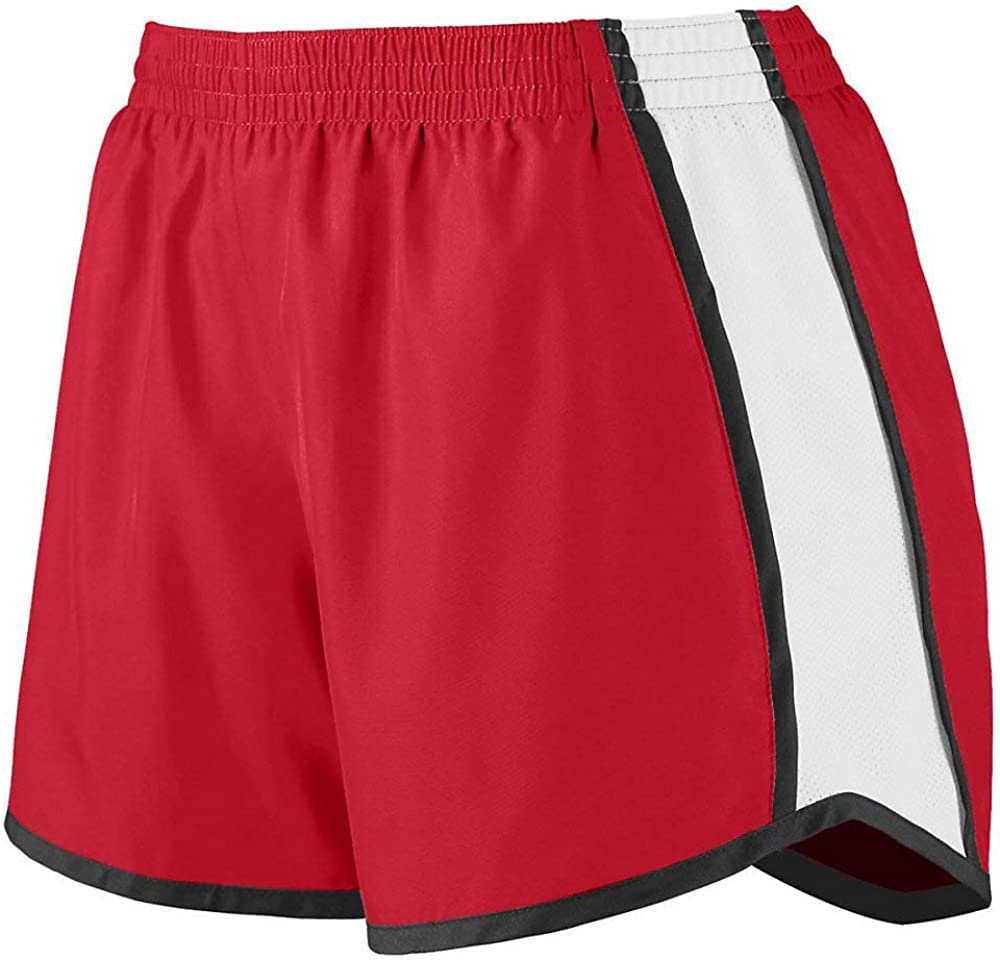 Girls//Ladies Micropoly Striped Shorts w//Wicking Liner Comfort /& Performance 11 Colors