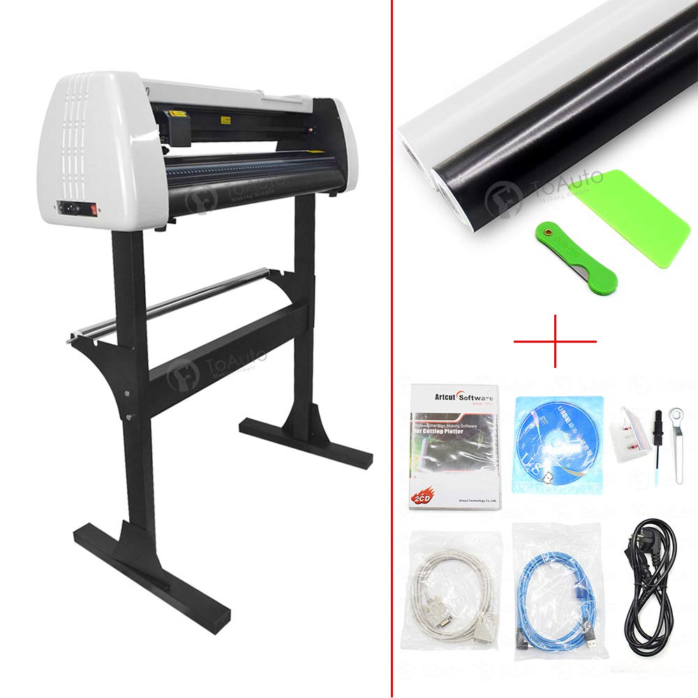 Vinyl Cutter Plotter, Sign Cutting Machine for Vinyl Sticky Self-Adhesive Car Stickers Cutting and Drawing Tools (28inch) by FASTTOBUY (Image #1)