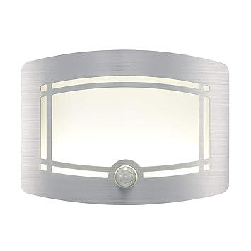Signstek - Aplique de pared (10 ledes, inalámbrico, a pilas, con sensor