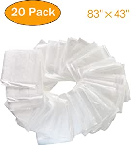 PinJaze Plastic Disposable 20-Pieces Body Wrap Film 83(L)×43(W) Inches Sauna Blanket Liners with Open Side Openings Far Infrared Sauna Blanket Accessories for Use in Saunas