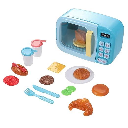 Toyvian Microondas Kitchen Play Set Cocina Pretend Play Oven ...