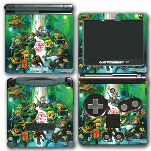 Legend of Zelda Link 25 Anniversary Special Edition Video Game Vinyl Decal Skin Sticker Cover for Nintendo GBA SP Gameboy Advance System