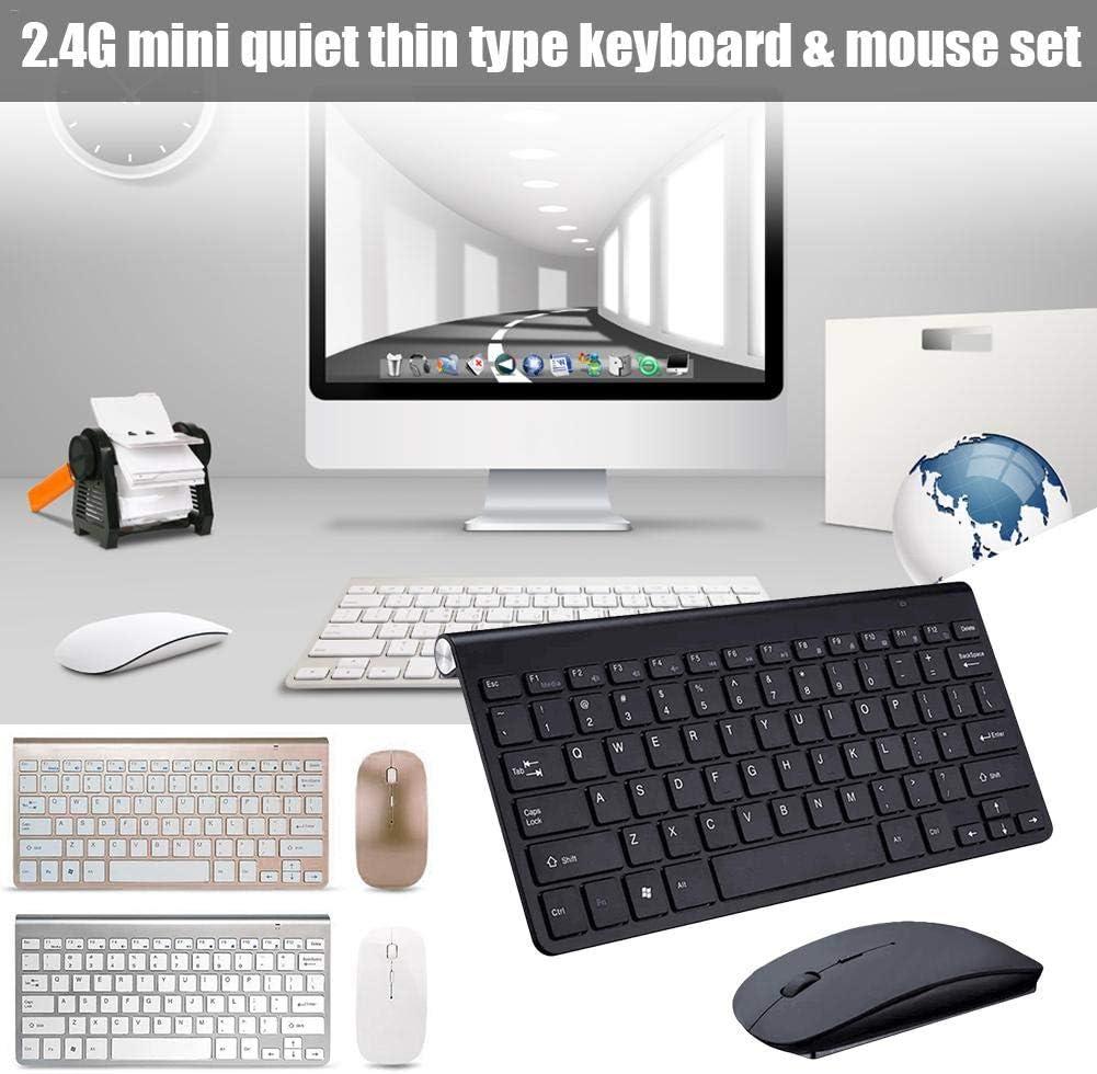 PrinceShop Textured Keyboard Ultra-Thin Wireless Keyboard Mouse Combo 2.4G Wireless Mouse For Apple Keyboard Style Mac Win XP//7//8//10 TV Box