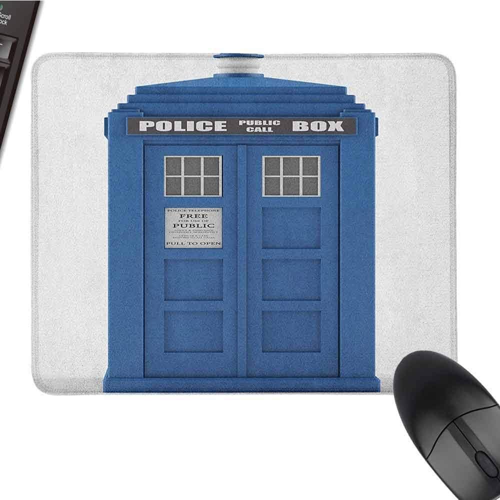 Teclado de la policía Mousepad Médicos Resistentes al Agua Blue House Punto de Referencia británico Cabina telefónica Imagen de la Llamada de la policía Empleo Tema