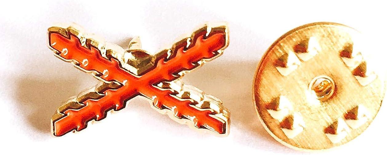 Gemelolandia Pin de Traje Aspa de Borgoña Cruz de San Andres: Amazon.es: Ropa y accesorios