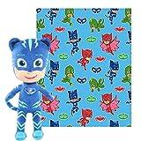 PJ Masks Fleece Throw Blanket & Cuddle Plush Toy - Kids