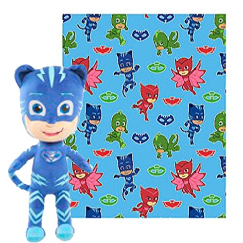 PJ Masks Fleece Throw Blanket & Cuddle Plush Toy - Kids