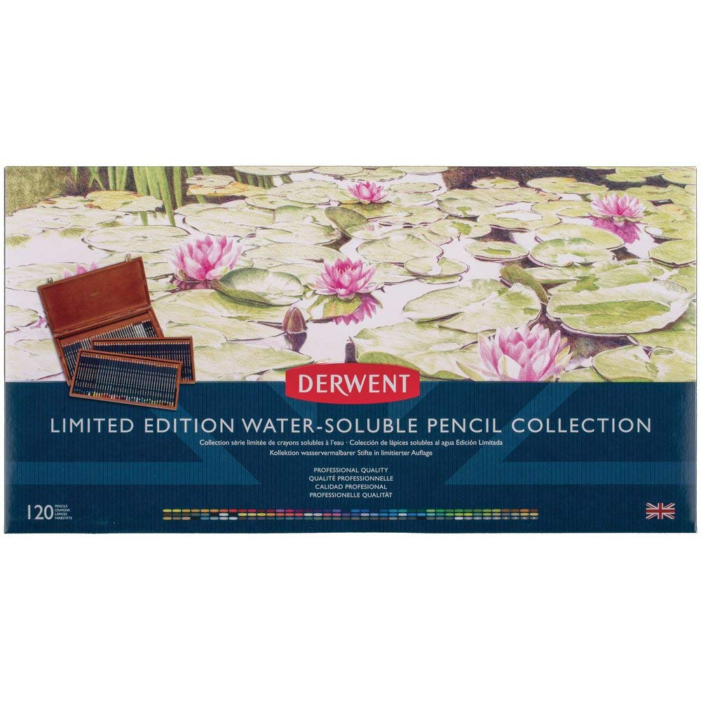 Derwent Limited Edition Water Soluble Pencil Collection, for Artist, Drawing, Professional, 120 Pack (2302732)