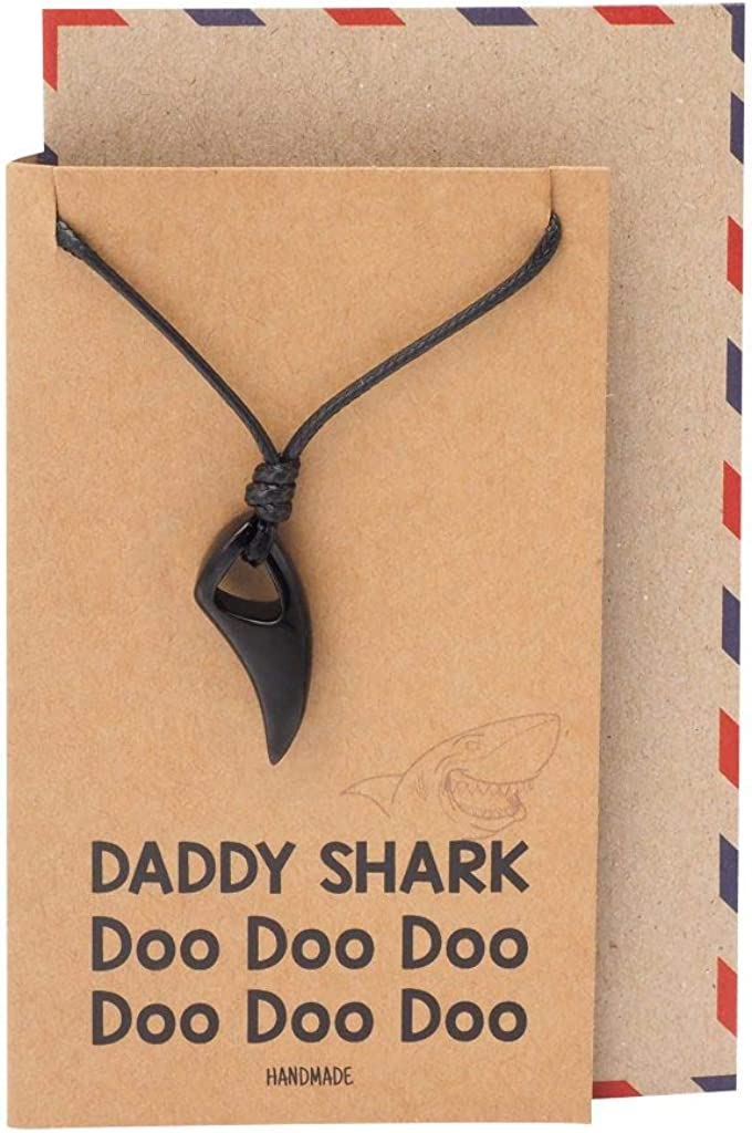 Quan Jewelry Baby Shark Necklace, Fish Aquatic Jewelry, Baby Shark Necklace, Megalodon Sharkticon Jaws Inspired Pendant Charm, Mommy Shark Necklace