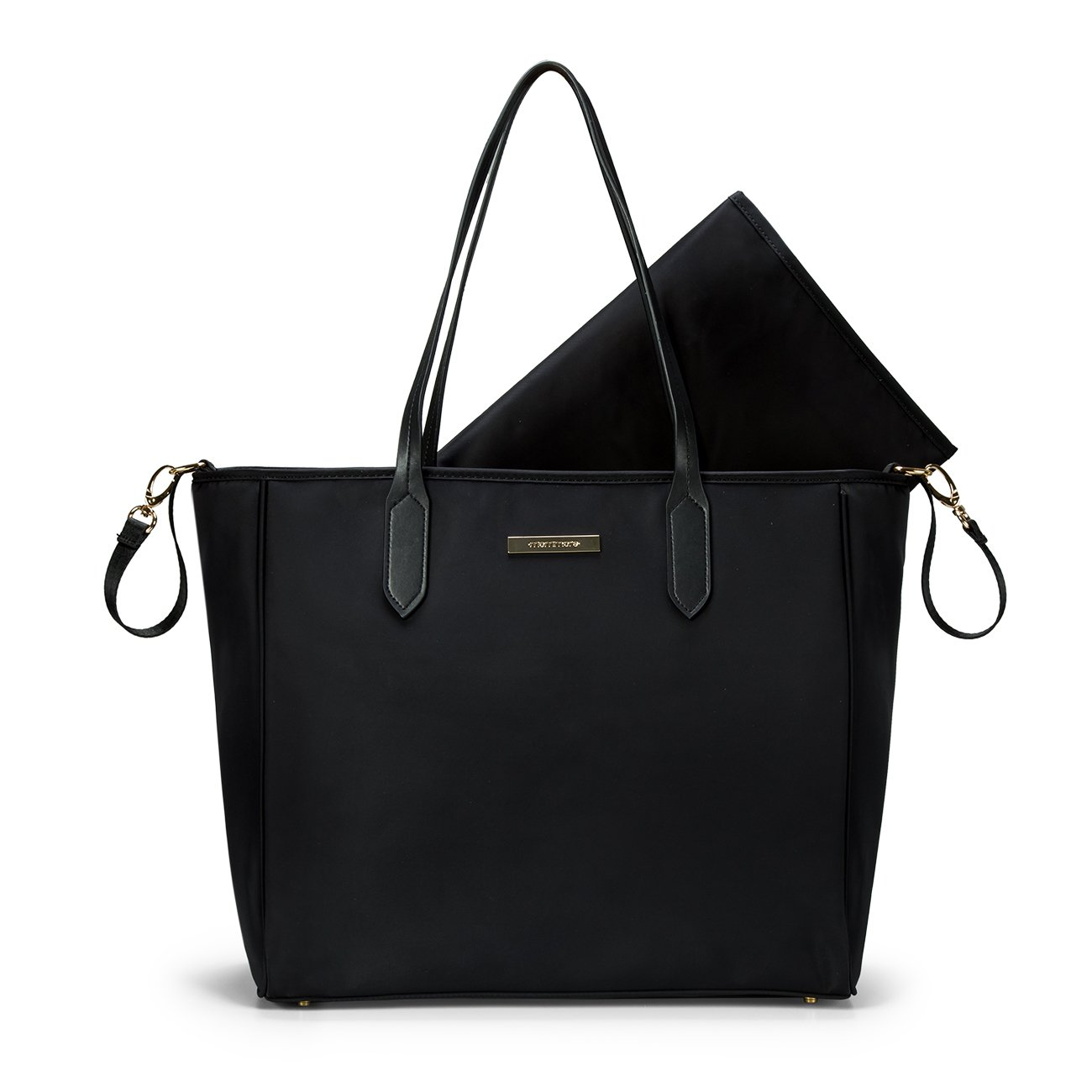 311f392b8131e Amazon.com : mommore Diaper Bag Large Totes Handbag with Changing Pad for  Baby, Black : Baby