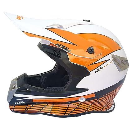 Casco para Motocicleta Adulto Casco para Motocicleta MX Casco Scooter ATV Casco D.O.T Certificado con Gafas