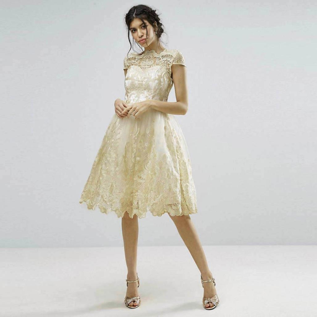 Vestido de fiesta mujer ❤ Amlaiworld Vestido de fiesta de noche formal del bordado del cordón de mujeres Vestidos de baile de dama de honor: Amazon.es: ...