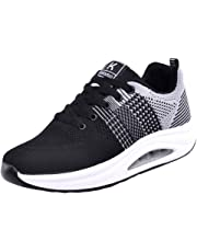 Logobeing Zapatillas de Deporte con Cojines de Aire Calzado de Running Net para Estudiante Volar Zapatos