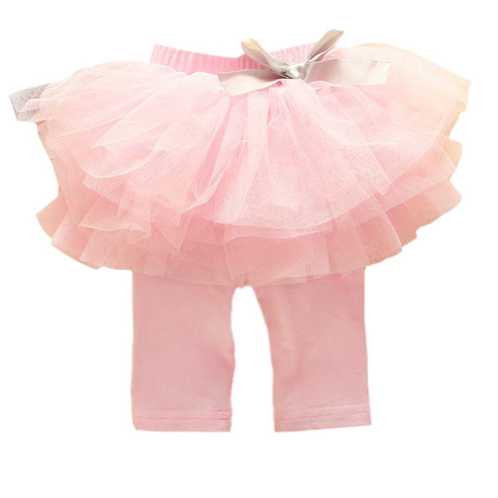 Norbi Baby Girls Culottes Leggings Tulle Pants Bow Tutu Dress