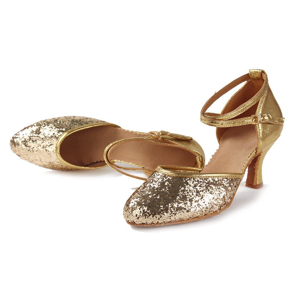 SWDZM Chaussures de Danse Femme Standard Latin//Jazz//Chacha//Ballet Chaussures Cuir Model-FR-DC-513