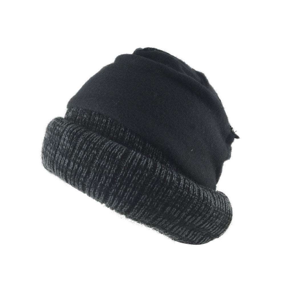 Mens Women H3509D Heather Cuff Knit Beanie Hat Heather Brown