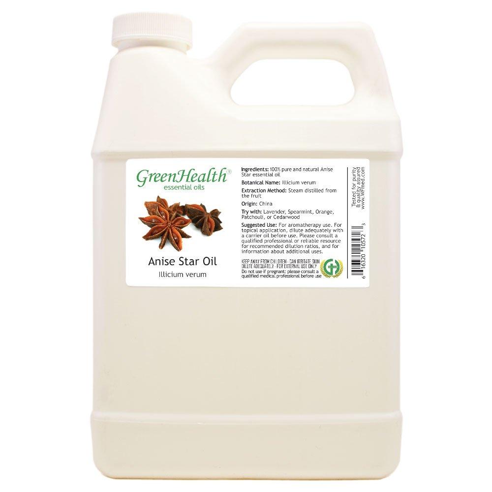 Anise Star Essential Oil - 32 fl oz (946 ml) Plastic Jug w/Cap - 100% Pure Essential Oil - GreenHealth by GreenHealth