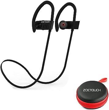 Auriculares Bluetooth, ZOETOUCH Auriculares Inalámbricos Bluetooth Deportivos In-Ear Manos Libre con Micrófono Anti-Sudor Reducción de Ruido para iPhone, iPad, Samsung, Nexus, Huawei, Xiaomi, OnePlus: Amazon.es: Electrónica