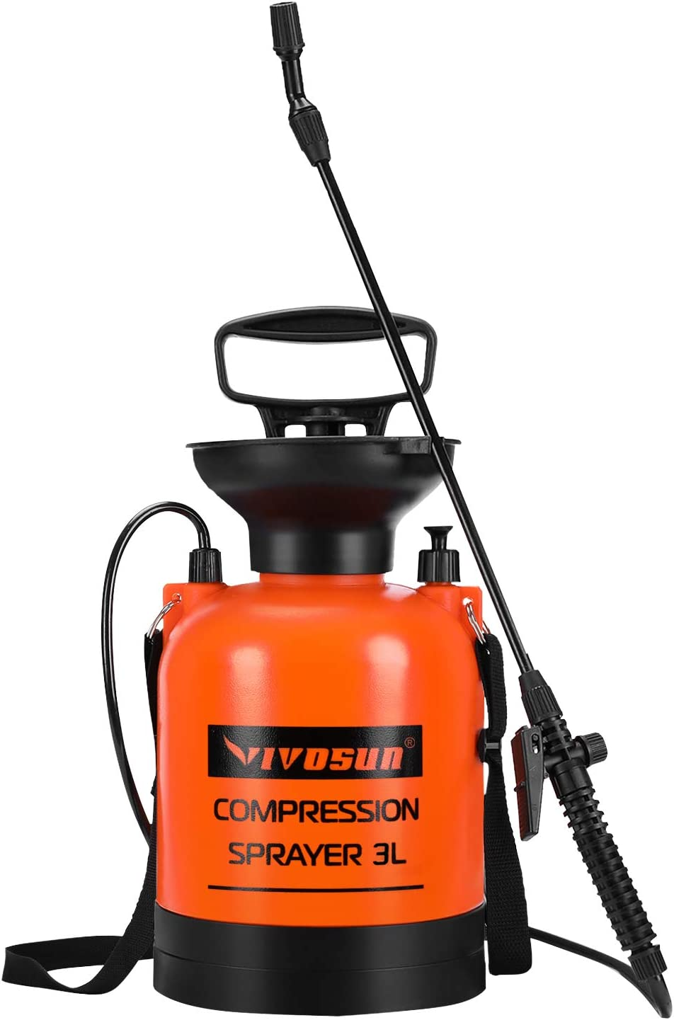 VIVOSUN 0.8 Gallon Lawn and Garden Pump Pressure Sprayer with Pressure Relief Valve, Adjustable Shoulder Strap