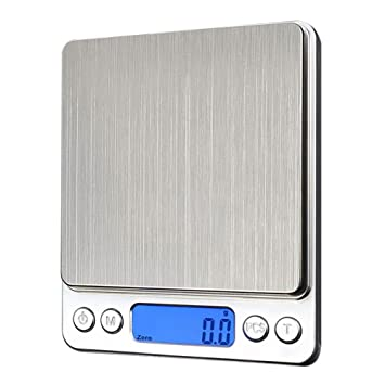 Tekanxc Báscula de cocina digital portátil de bolsillo balanzas electrónicas de precisión LCD Joyería Peso de balanza de cocina Balanza,1000G/0,1G: ...