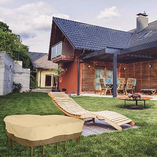 Persiverney Funda Muebles Jardin Impermeable, Funda para Mesa Jardin Fundas Muebles Exterior Cubierta de Muebles de Jardín Fundas de Muebles Anti-UV Protección Exterior Muebles de Jardín Enjoyable: Amazon.es: Hogar