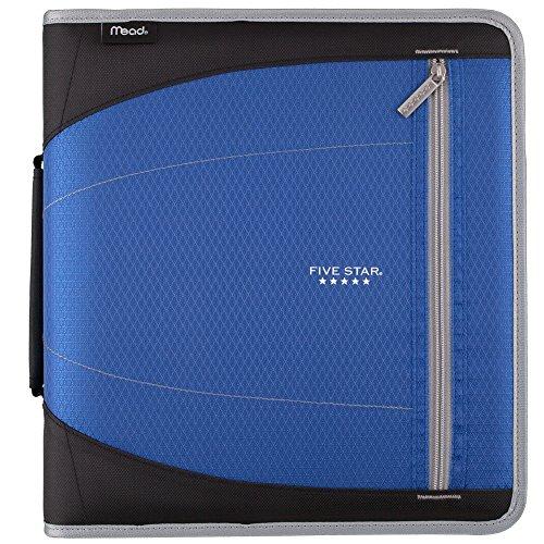 (Five Star 2 Inch Zipper Binder, File Folders, Durable, Cobalt Blue/Black (29036BC7))