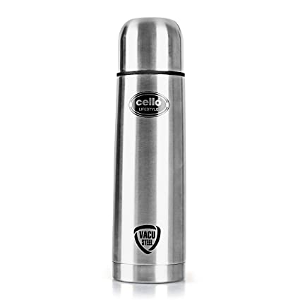 Cello Lifestyle Stainless Steel Flask with Thermal Jacket, 1000ml