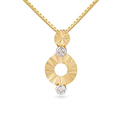 137d09be5e2d3 Buy Mia by Tanishq 14KT Yellow Gold and Diamond Pendant for Women ...