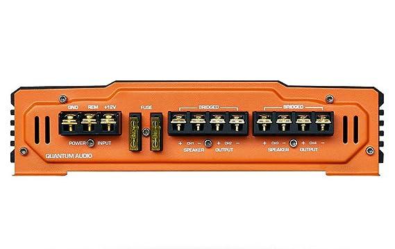Quantum 2600 W Max 4 canal 2 Ohm estéreo clase AB amplificador de audio del coche: Amazon.es: Electrónica