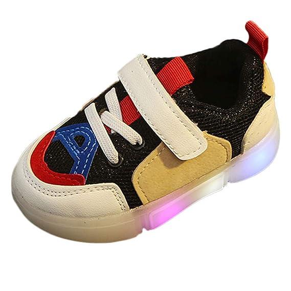 JiaMeng Zapatos de Bebé Viaje Antideslizantes Niños Bebés Zapatillas Niños Relámpago LED Luminoso Zapatillas de Deporte para niños: Amazon.es: Ropa y ...