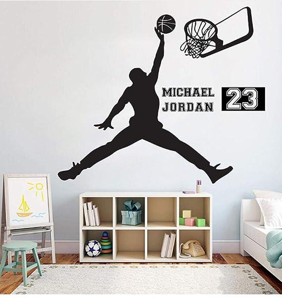 Pegatinas De Pared Jugador De Baloncesto 57X67Cm Diy Art Sticker ...