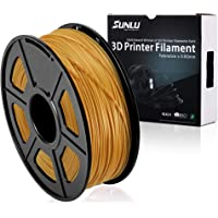 SUNLU 3D Printer Filament PLA Plus, 1.75mm PLA Filament, 3D Printing Filament Low Odor, Dimensional Accuracy +/- 0.02 mm, 2.2 LBS (1KG) Spool, Gold Yellow PLA+