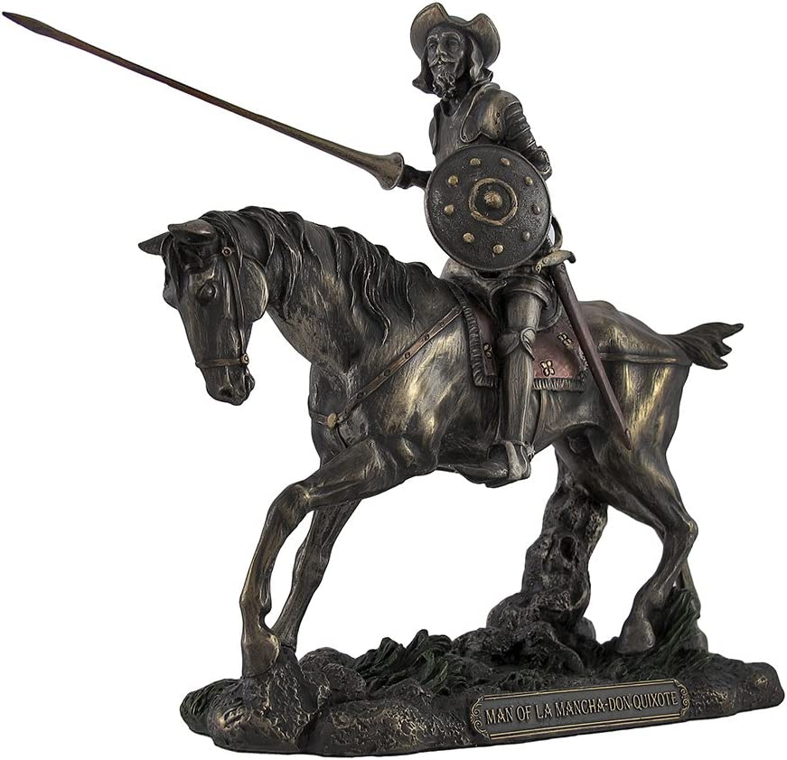 Veronese Design Don Quixote Riding Steed with Lance Figure