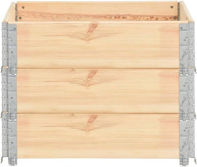 Festnight Pallet Collars 3 pcs//Stackable Pallet Collars 60x80 cm Solid Pine Wood