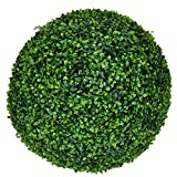 e-Joy Artificial Ball Shaped Boxwood Topiary ,Decorative Artificial Milan Boxwood Ball, Perfect for Both Outdoor or Indoor, Home Décor, Weddings and other Special Events 19inch (2 piece)