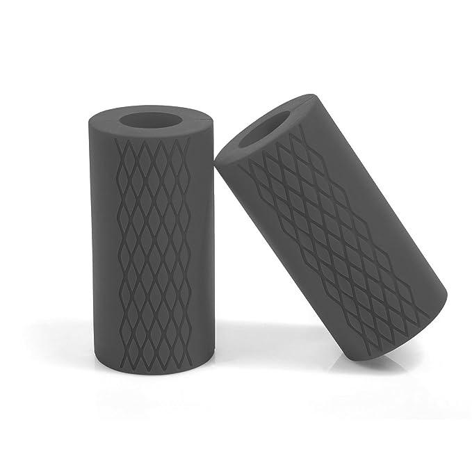 ... Grip - Puños de barra y mancuernas de grosor - aumento bíceps, antebrazo, tríceps, y en el pecho entrenamientos, gris: Amazon.es: Deportes y aire libre