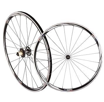 Control Tech Cetus Clincher Campy aleación rueda de bicicleta de carretera, color negro/blanco: Amazon.es: Deportes y aire libre