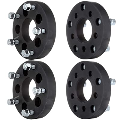 "OCPTY Replacement Parts Compatible with 4X 1.25 5x4.5 to 5x5.5 Wheel Spacers Adapters 1/2"" Studs Fit 1982-2002 Ford Mustang Ranger Lincoln Town Car: Automotive"