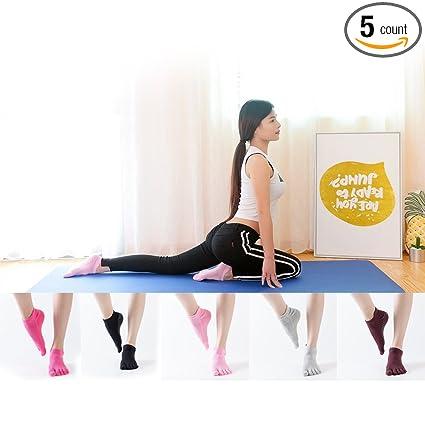 Women Yoga Socks Sport Grip Gym Anti-slip Socks New Pilates Massage 5 Toes Socks