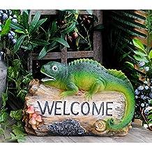 Decoración de Jardines Divertida Decoración De Jardín Estatua Lindo Degradado Animal Cartel De Bienvenida For Jardín Patio Balcón Tienda Decoración Adecuado para jardín de jardín