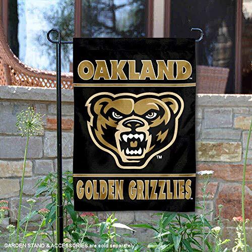 (Oakland Golden Grizzlies Garden Flag and Yard Banner)