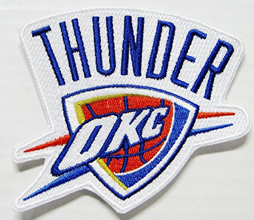 LOT OF (1) NBA OKLAHOMA THUNDER (OKC) BASKETBALL EMBROIDERED PATCH ITEM # 121